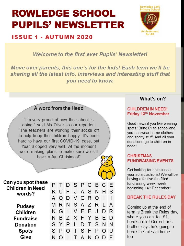 Newsletter 1 Autumn Term(1)